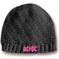 AC/DC Girls Ribbed Knit Hat