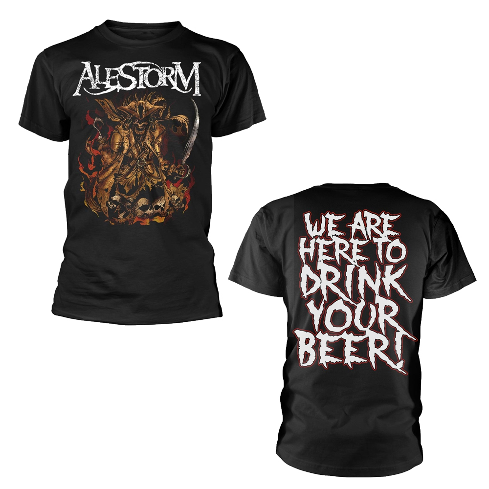 Alestorm /'We Are Here To Drink Your Beer/' T-Shirt NEW /& OFFICIAL!
