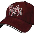 Korn : Applique Maroon S/M Flex Cap