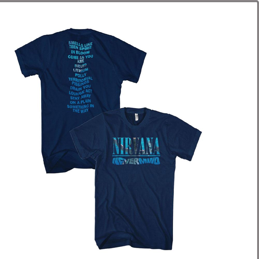 New NIRVANA Nevermind Album Play List  LICENSED CONCERT BAND  T Shirt