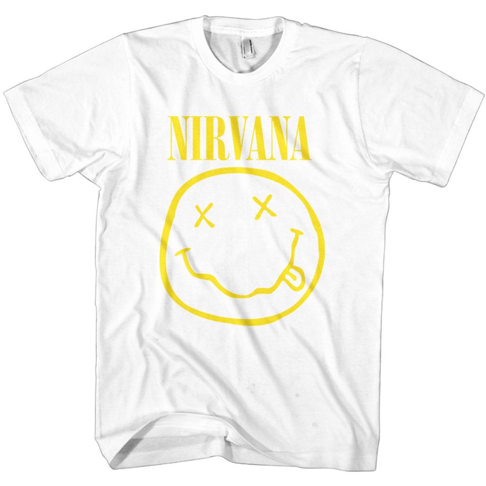 NEW /& OFFICIAL! Nirvana /'Spliced Smile/' T-Shirt