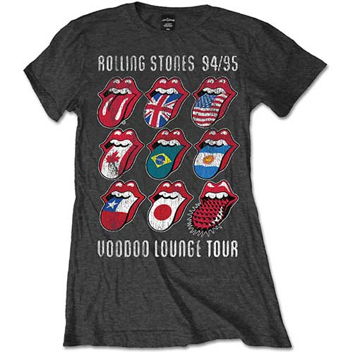 Rolling Stones Disco Tongue Logo Black T Shirt New Official Band Merch
