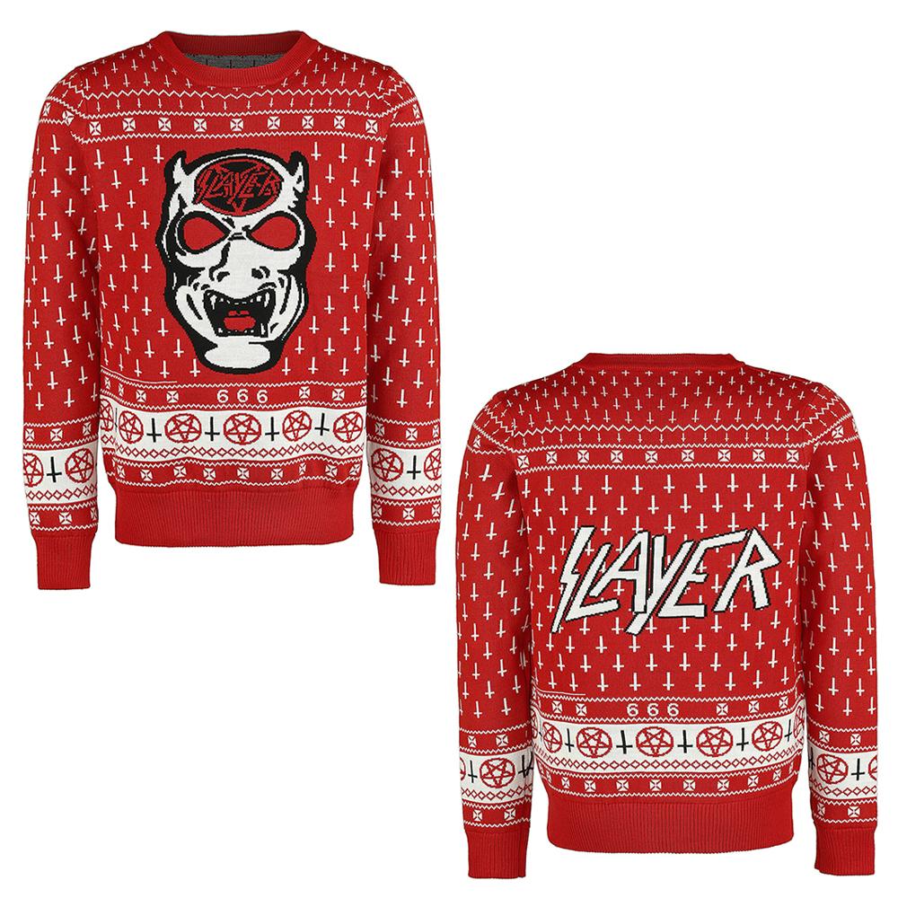 slayer christmas jumper - Metal Band Christmas Sweaters