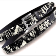 AC/DC : Cracked Leather Belt With Full Print