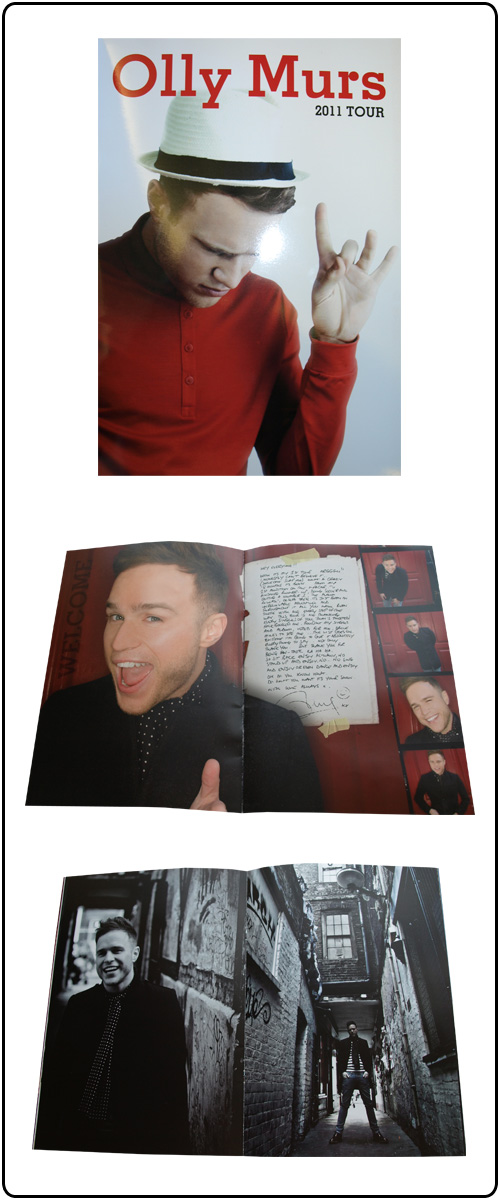 Olly Murs - 2011 Tour Programme SALE PRICE