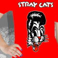 Stray Cats : 1-Line Logo (Red) (Girls)