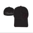 Throwdown : Black Flexfit With Red Logo