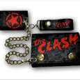 The Clash : Black Red Print Leather