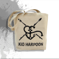 Kid Harpoon : Anchor Tote Bag (White)