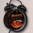 Megadeth : Flaming Skull Black Alarm