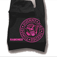 Ramones : Black/Pink Hoodie Bag
