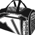 Throwdown : Black Duffle Bag With White Logo