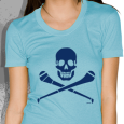 Pride Street : Skull & Hurley (Womens Sky Blue)