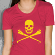 Pride Street : Skull & Hurley (Womens Red With Yellow)