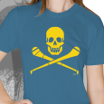 Pride Street : Skull & Hurley (Womens Royal Blue With Yellow)