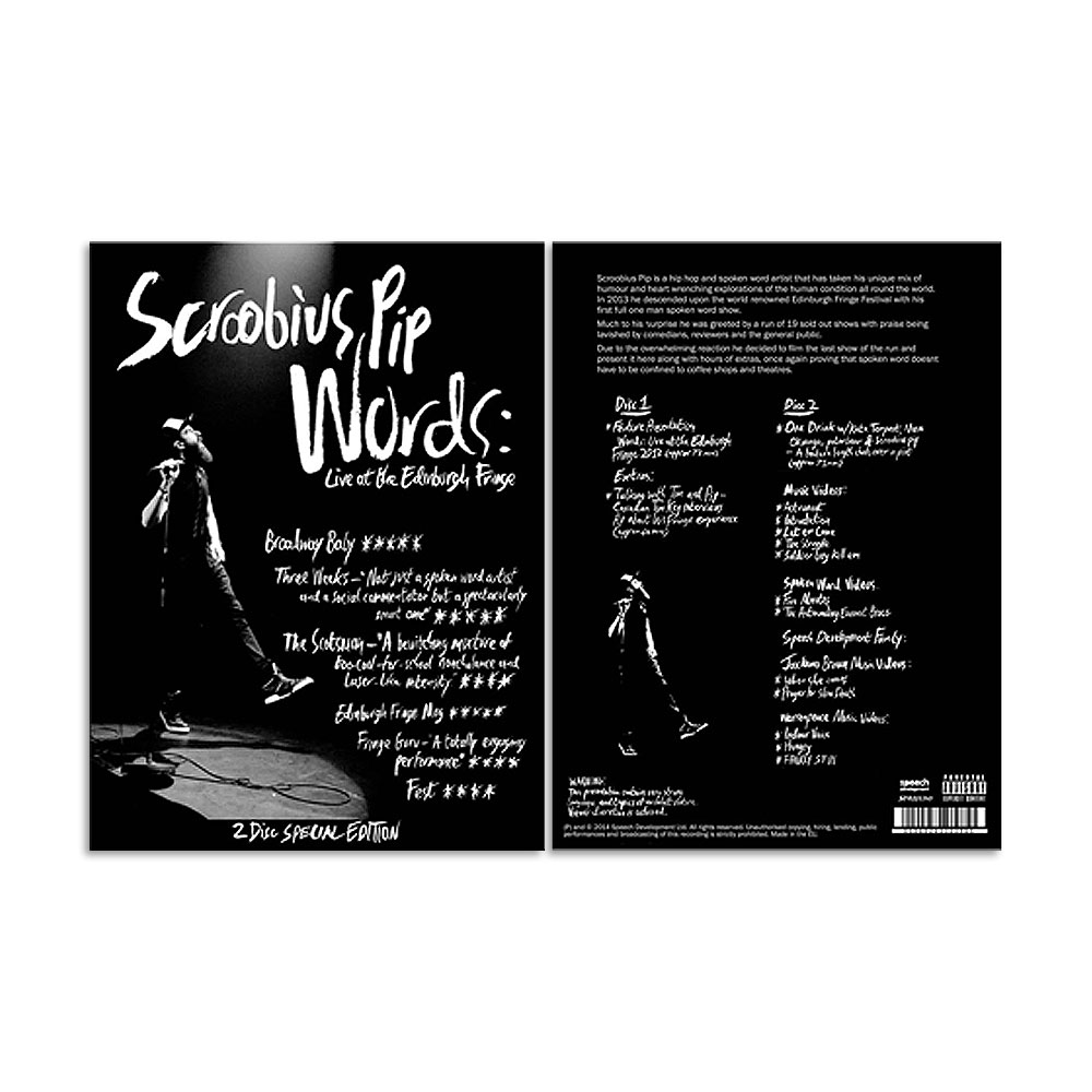 Scroobius Pip - Words - Live At The Edinburgh Fringe - 2 DVD