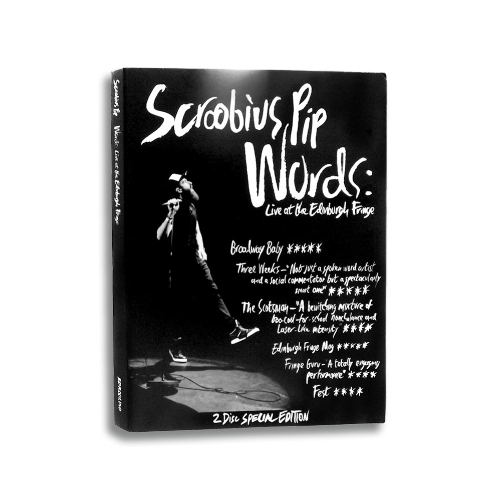 Scroobius Pip - Words - Live At The Edinburgh Fringe - 2 DVD (Signed - Strictly Limited)