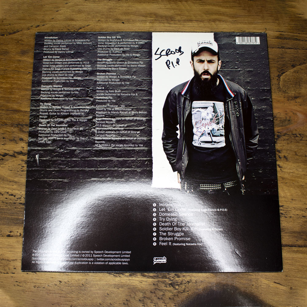 Scroobius Pip - Distraction Pieces (Signed - Strictly Limited Vinyl)