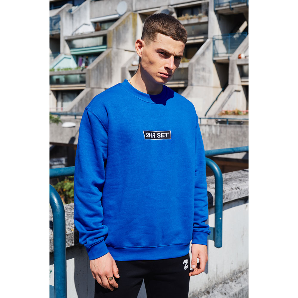 2HR SET - Box Logo Sweatshirt (Blue)