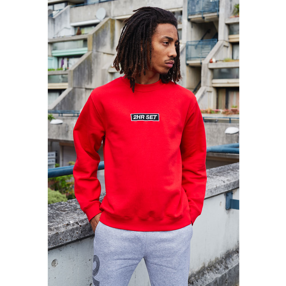 2HR SET - Box Logo Sweatshirt (Red)