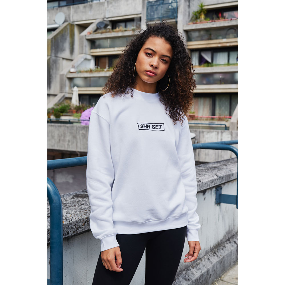 2HR SET - Box Logo Sweatshirt (White)