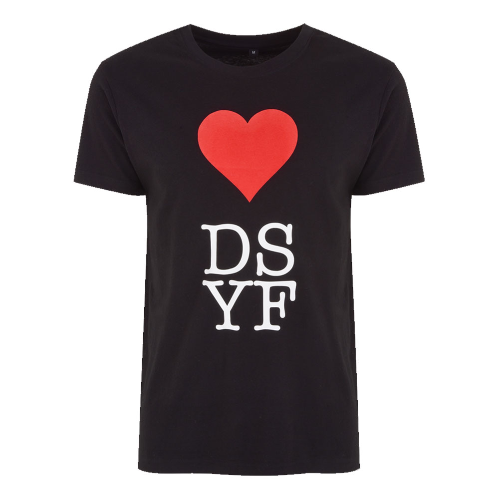 2HR SET - DSYF Heart T-shirt (Black)