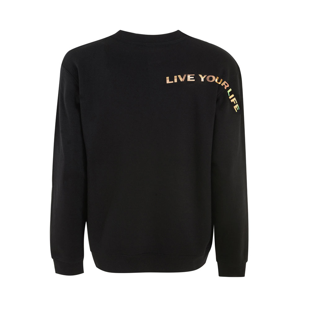2HR SET - DSYF IRIDESCENT GOLD SWEATSHIRT (BLACK)