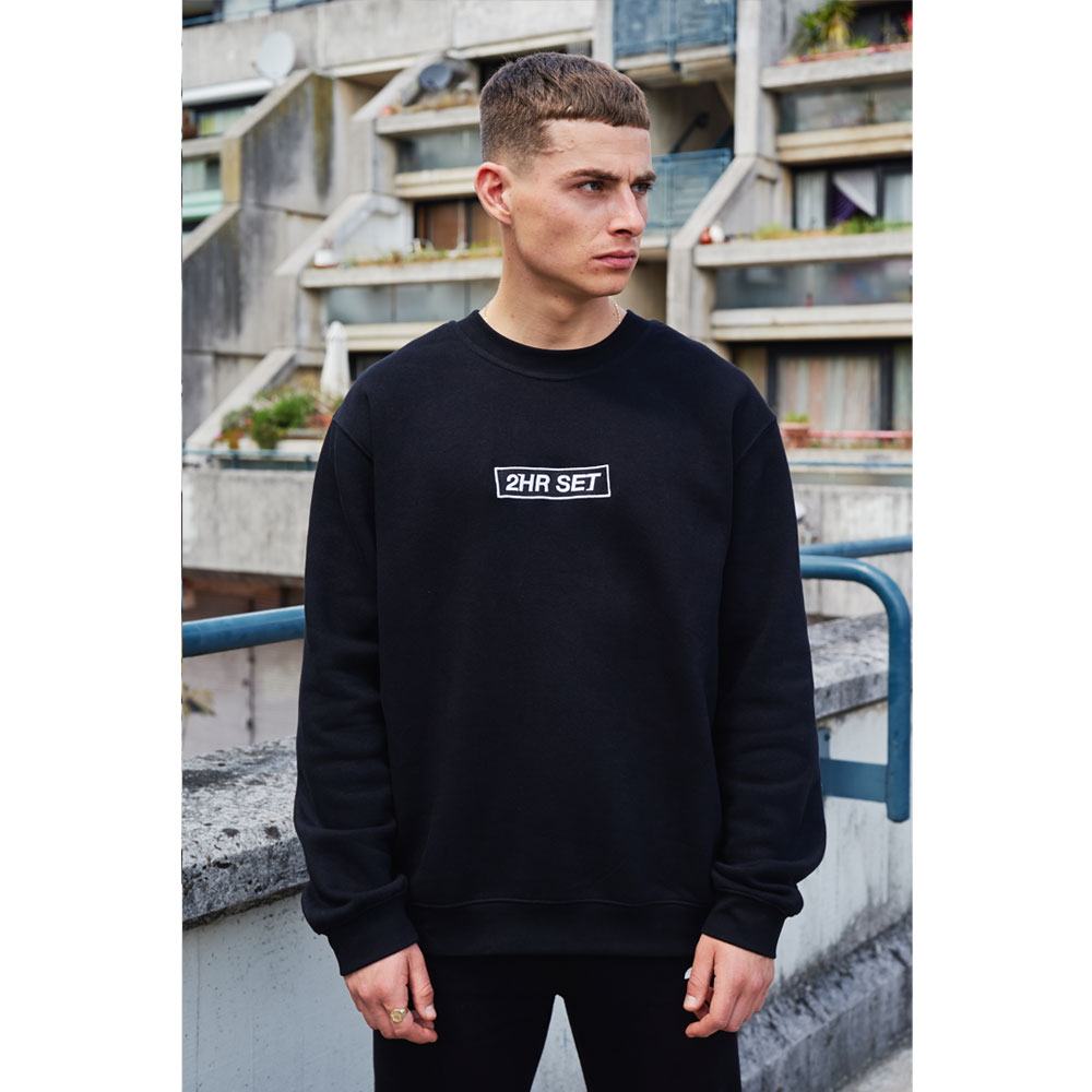 2HR SET - Box Logo Sweatshirt (Black)