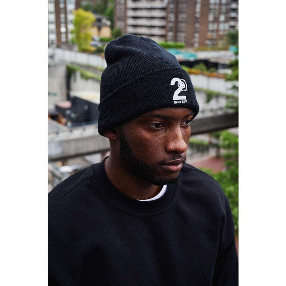 2HR SET - Hero Logo Beanie (Black)