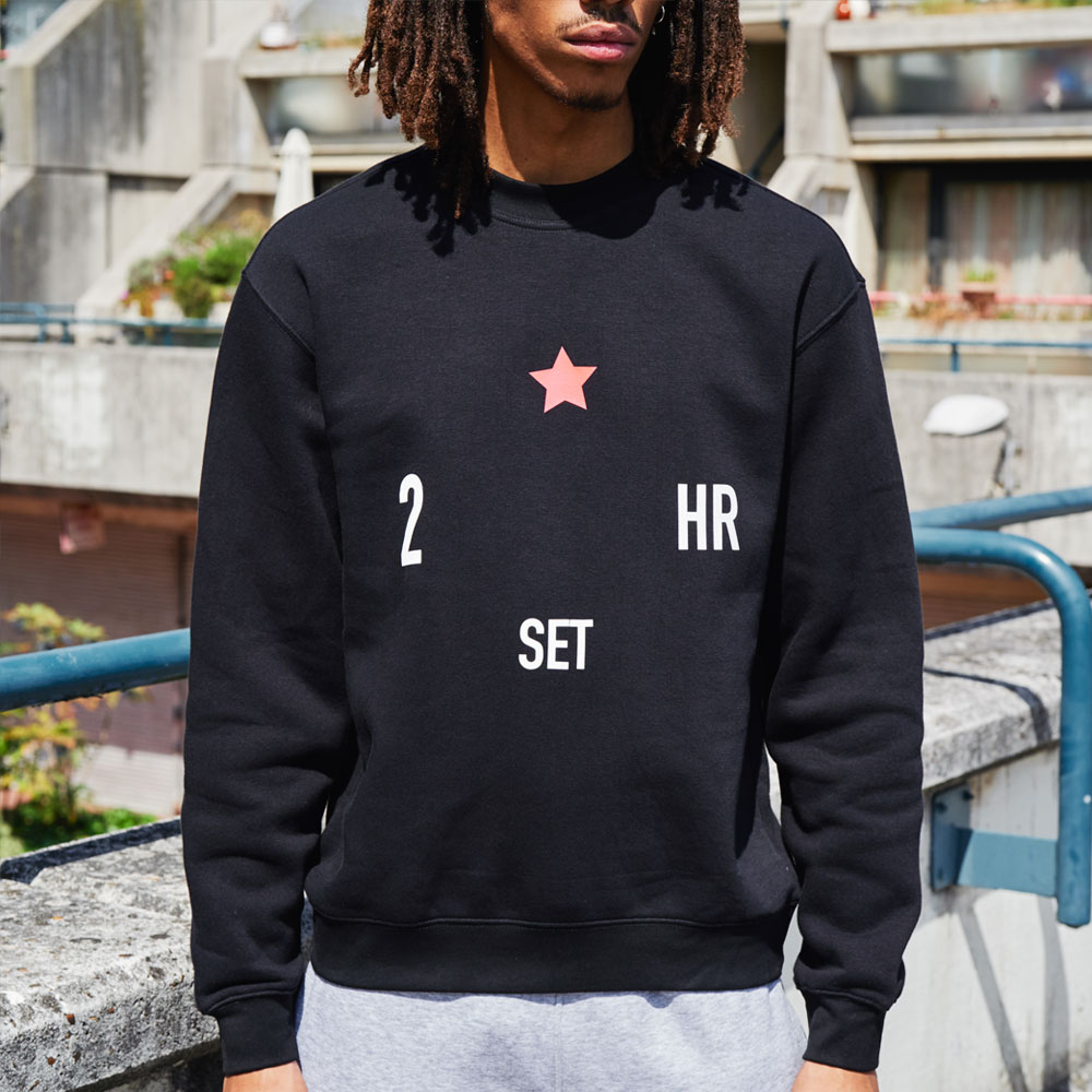 2HR SET - Inside X Red Star Sweatshirt (Black)