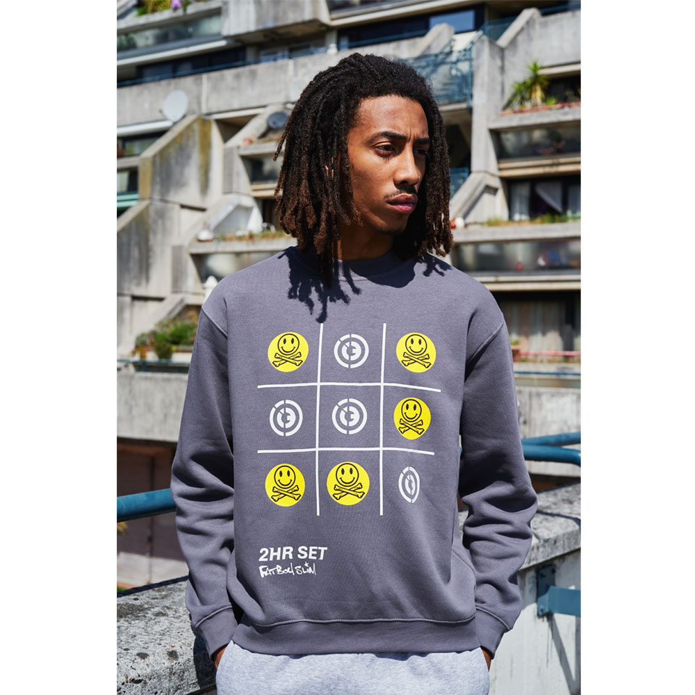 2HR SET - Fatboy Slim x 2HR SET Sweatshirt (Grey)