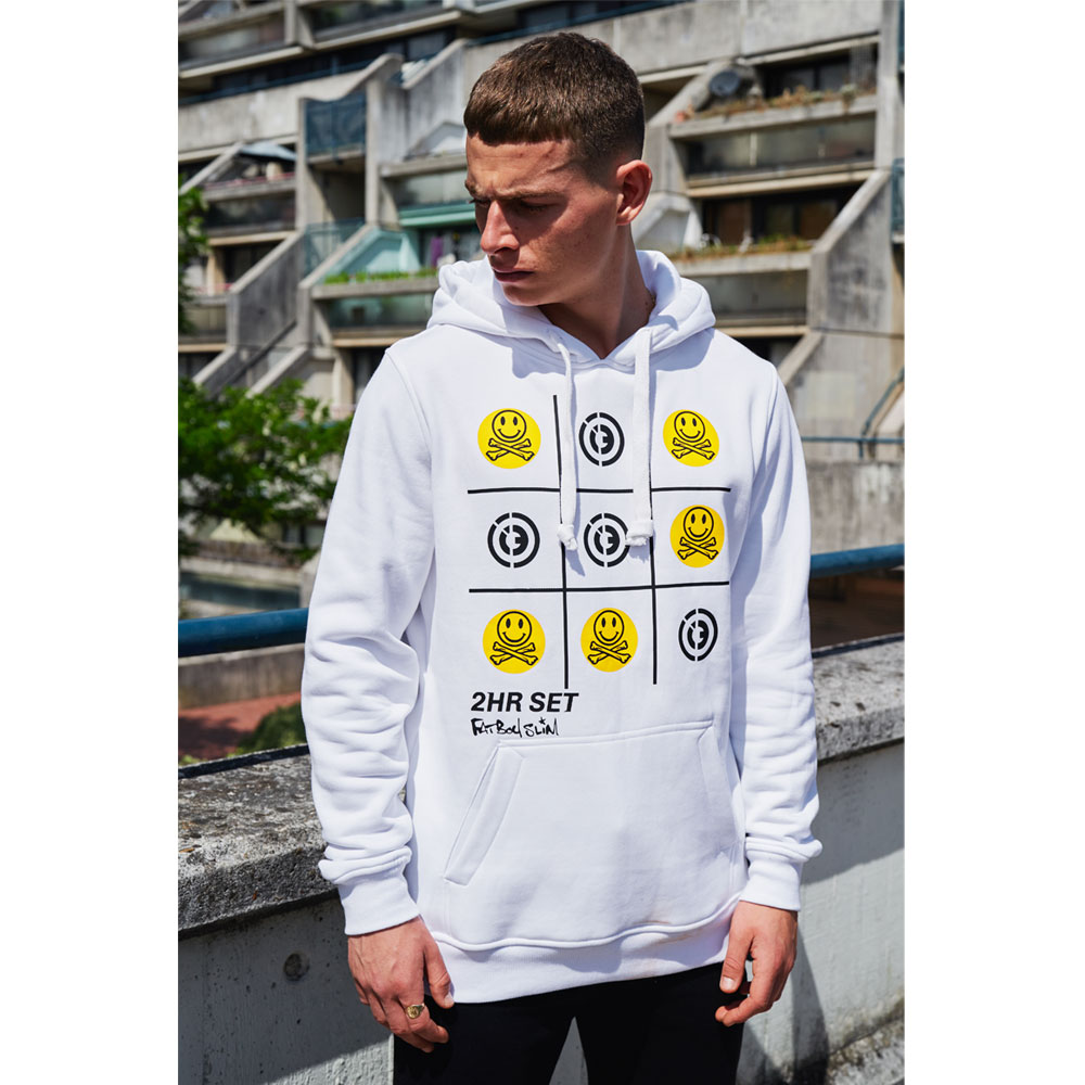 2HR SET - Fatboy Slim x 2HR SET Hoodie (White)