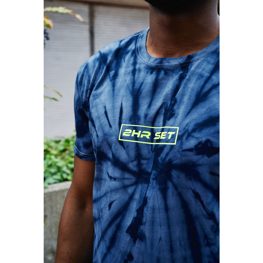 2HR SET - Tie Dye Box Logo T-Shirt (Blue)