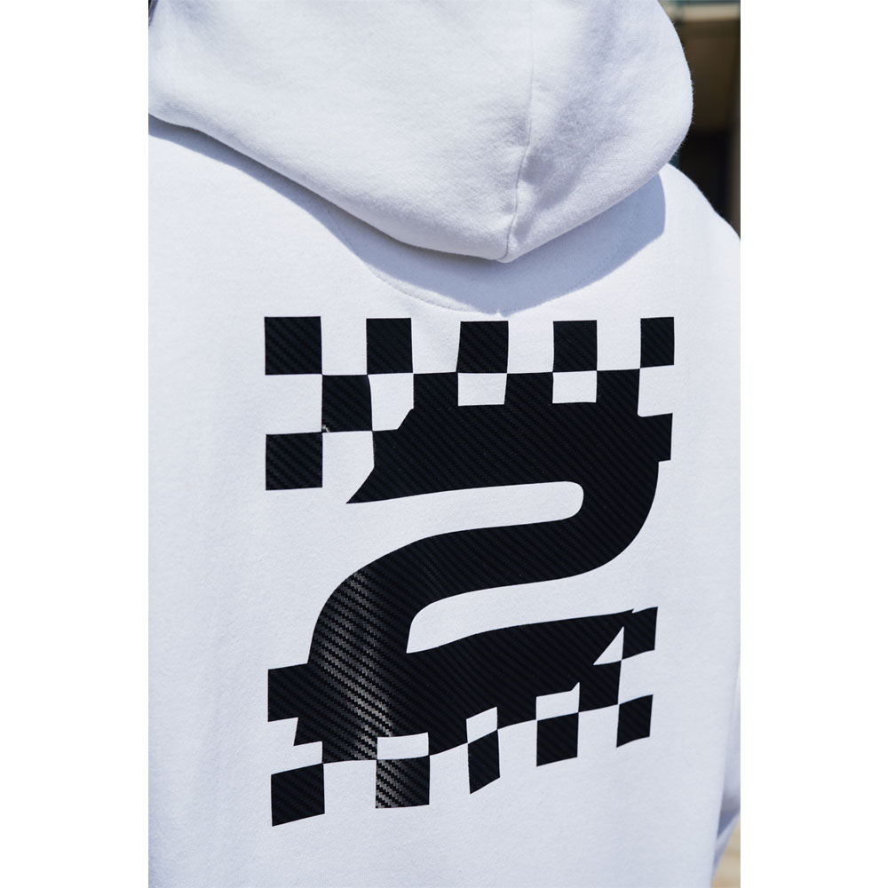 2HR SET - Chequered Print 1 Hoodie (White)