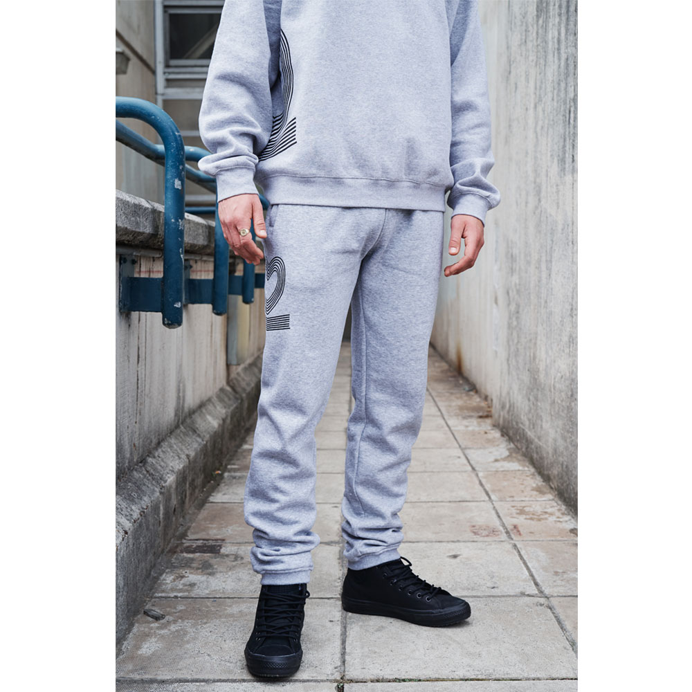 2HR SET - Striped 2 Jogger (Grey)