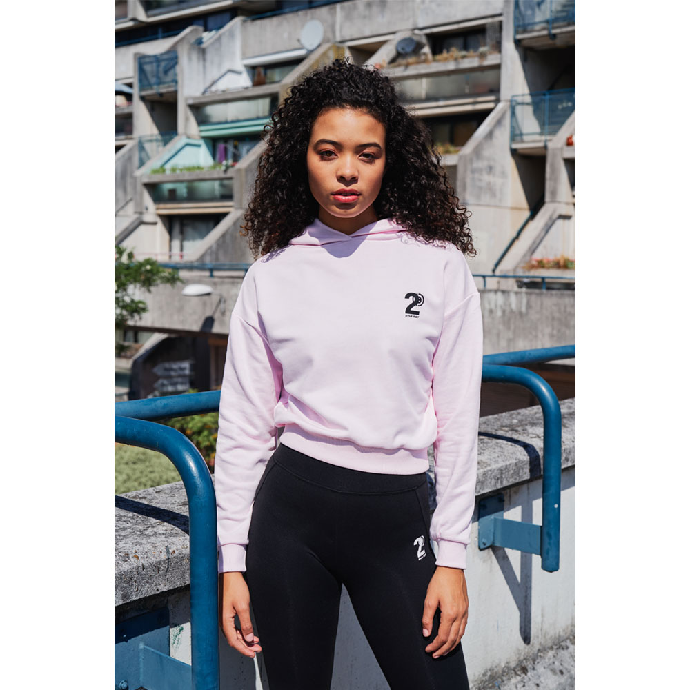 2HR SET - Hero Logo Cropped Hoodie (Pink)