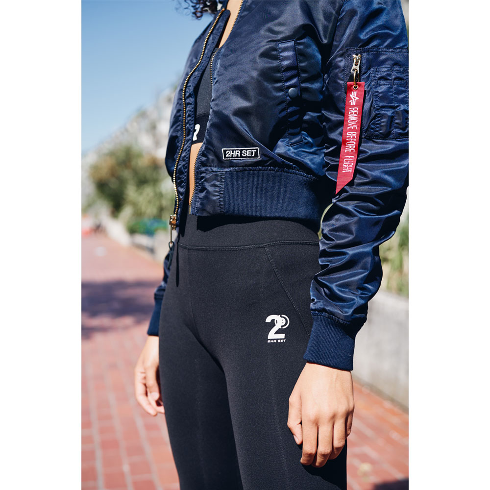 2HR SET - Womens Cropped Alpha Bomber