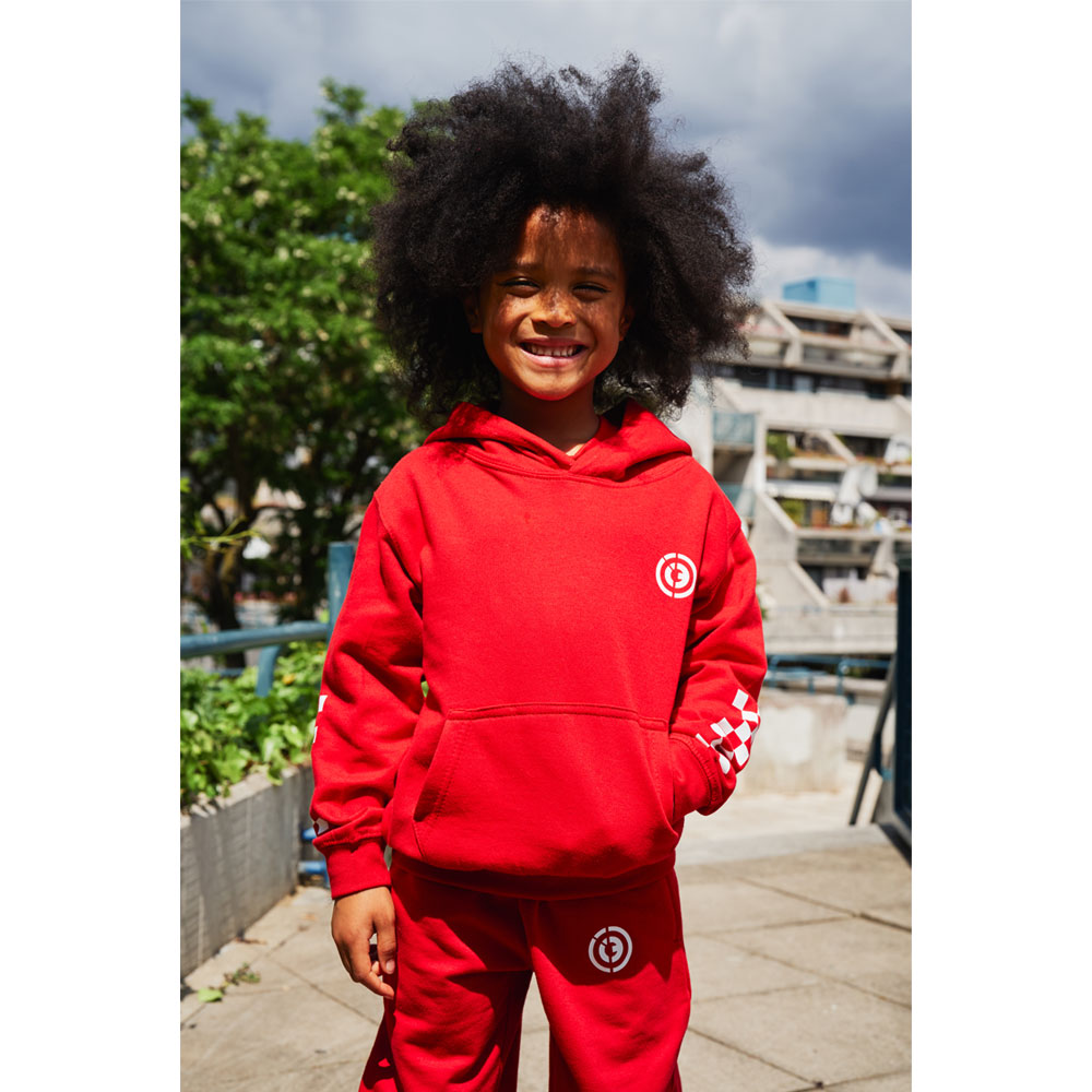 2HR SET - Kids Chequered Hoodie (Red)