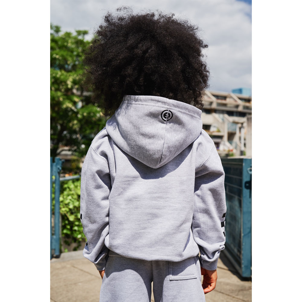 2HR SET - Kids Chequered Hoodie (Grey)