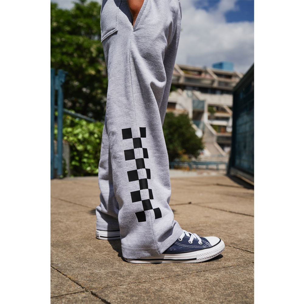 2HR SET - Kids Chequered Joggers (Grey)