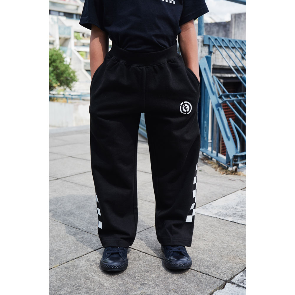 2HR SET - Kids Chequered Joggers (Black)