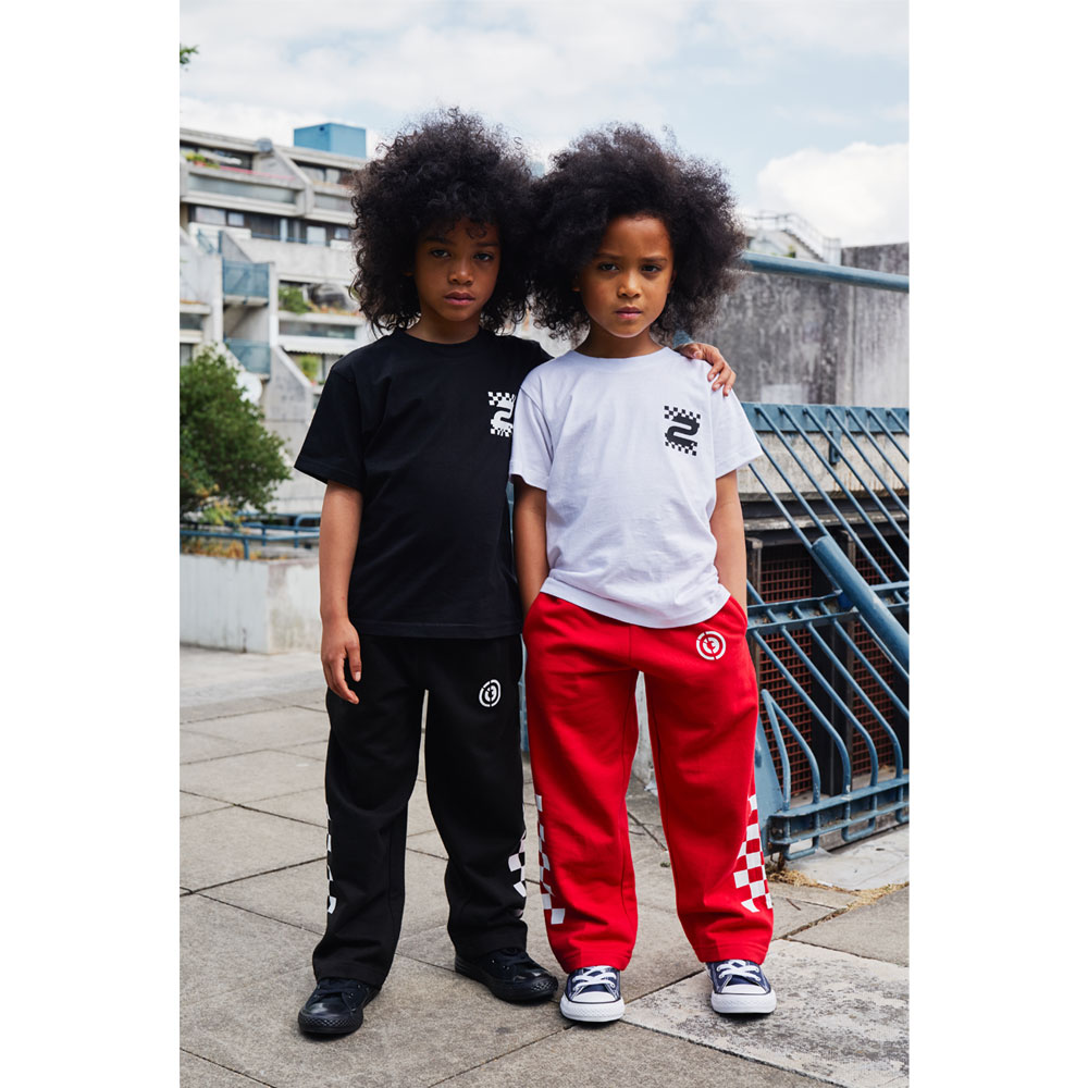 2HR SET - Kids Chequered Joggers (Red)