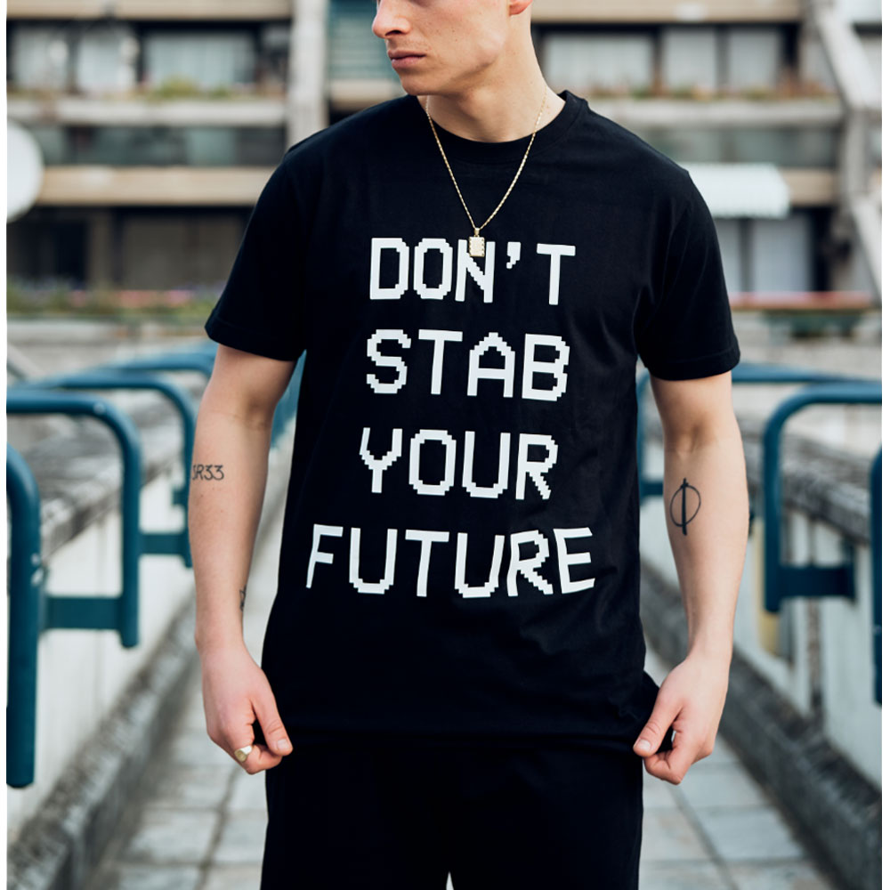 2HR SET - Don't Stab Your Future T-Shirt (Black)