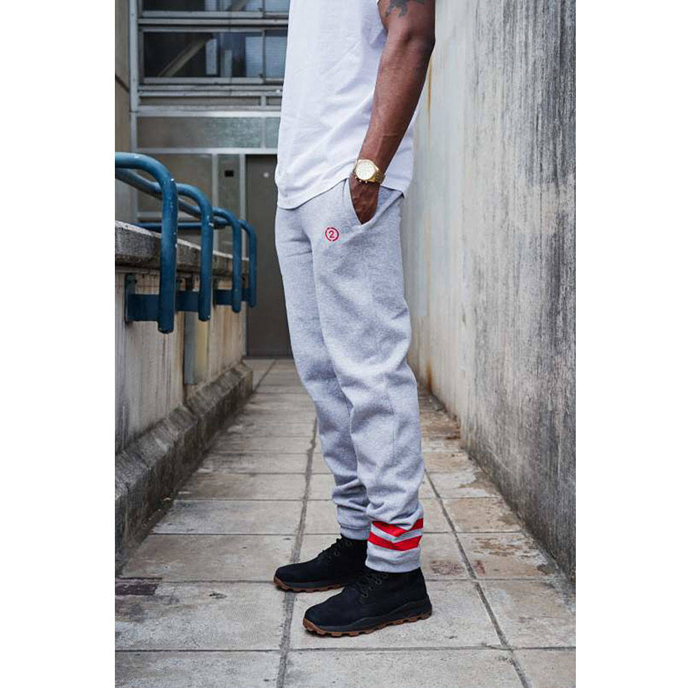 2HR SET - Stripes Jogger (Grey)