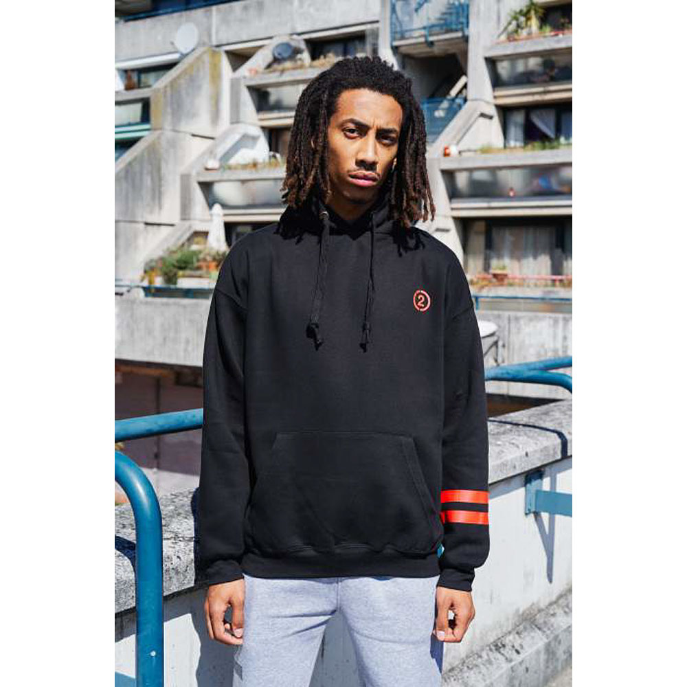 2HR SET - Stripes Hoodie (Black)