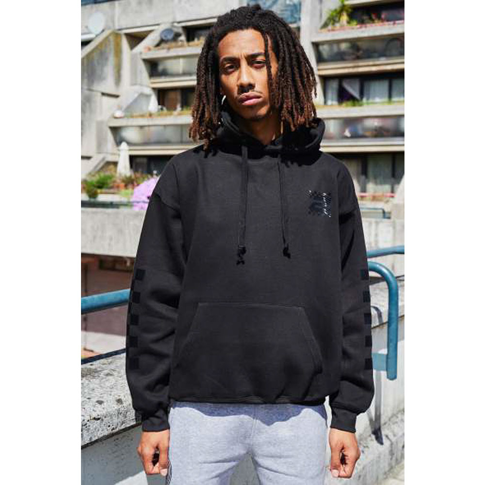 2HR SET - Chequered Print 1 Hoodie (Black)