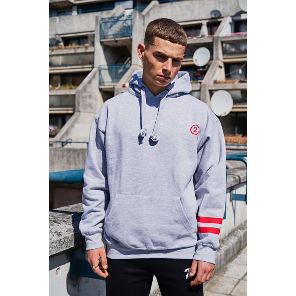 2HR SET - Stripes Hoodie (Grey)