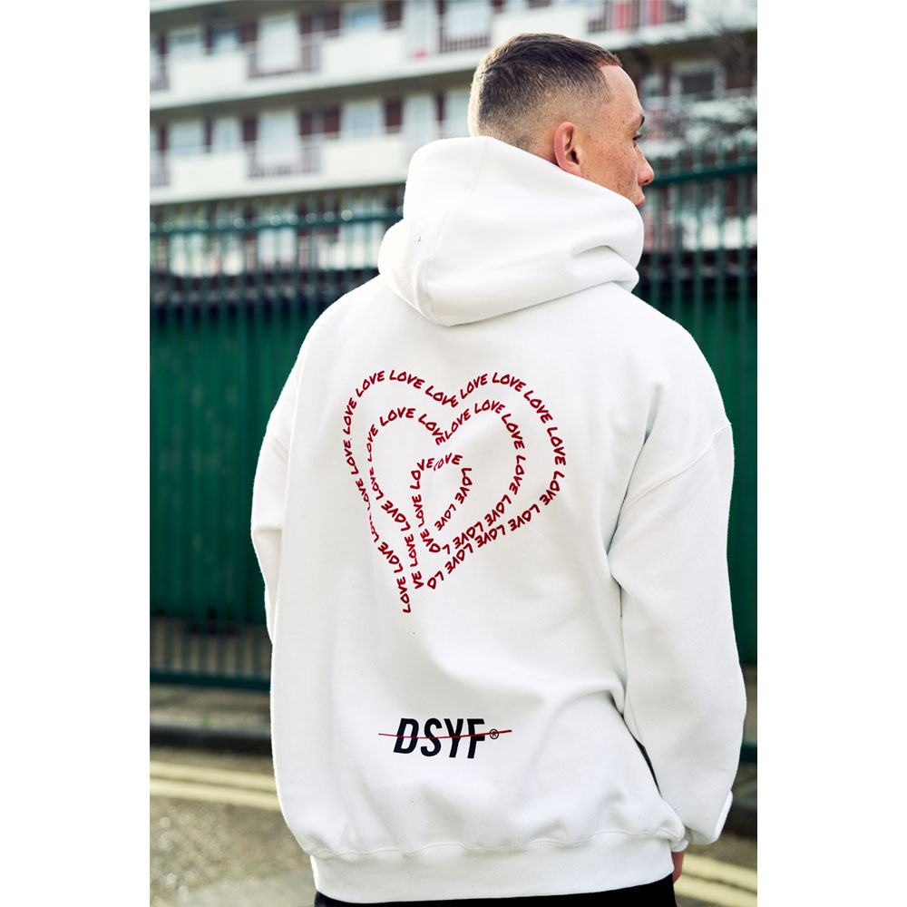 2HR SET - DSYF Love Hoodie (White)