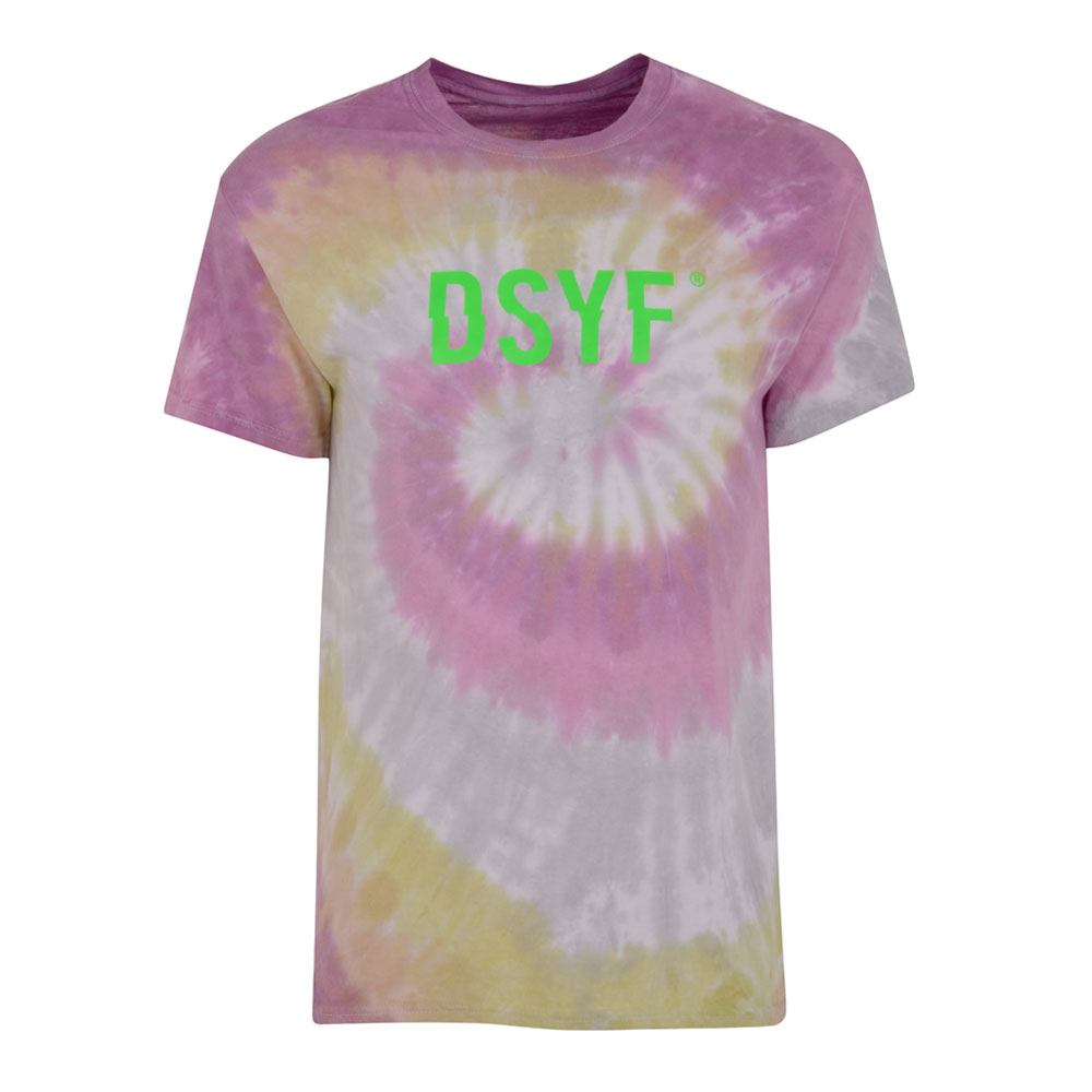 2HR SET - DSYF Tie Dye T-shirt (Pink)