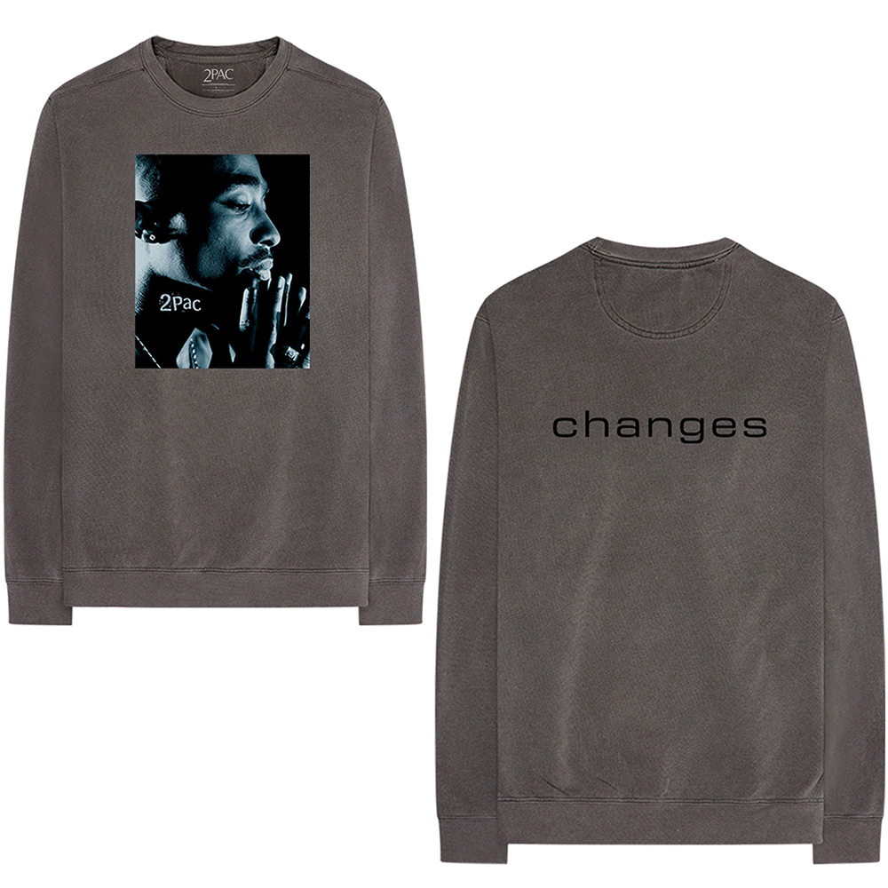 Tupac Shakur - Changes Side Photo (Back Print) (Longsleeve T-Shirt)